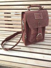 Satchel / Leather Messenger Bag - Reddish Brown