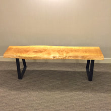 Live Edge Medium Wood bench / Dining bench / Dresser bench - Queens Quay