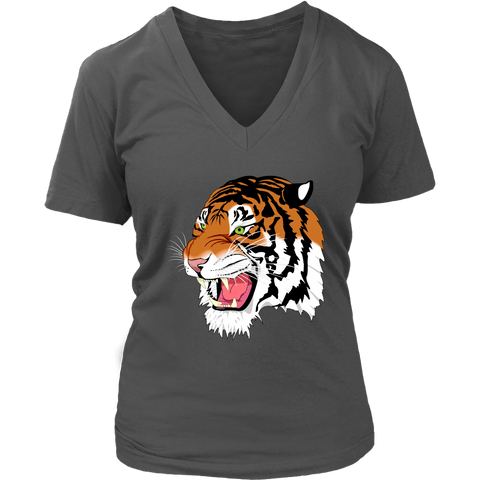 Sumatran Tiger V-Neck Tee Shirts - The Shoppers Outlet