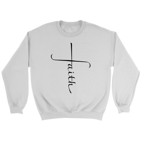Faith Cross Crewneck Sweatshirts - The Shoppers Outlet