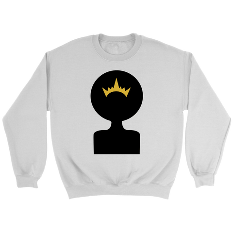 Afro Shadow Queen Crewneck Sweatshirts - The Shoppers Outlet