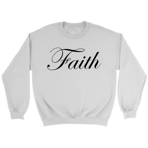 Faith Scripted Crewneck Sweatshirt (5 Colors) - The Shoppers Outlet