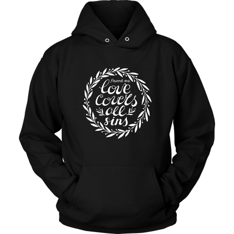 Love Covers All Sins Hoodies (6 Colors) - The Shoppers Outlet