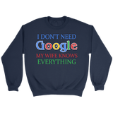 I Don't Need Google Crewneck Sweatshirts (6 Colors) - The Shoppers Outlet