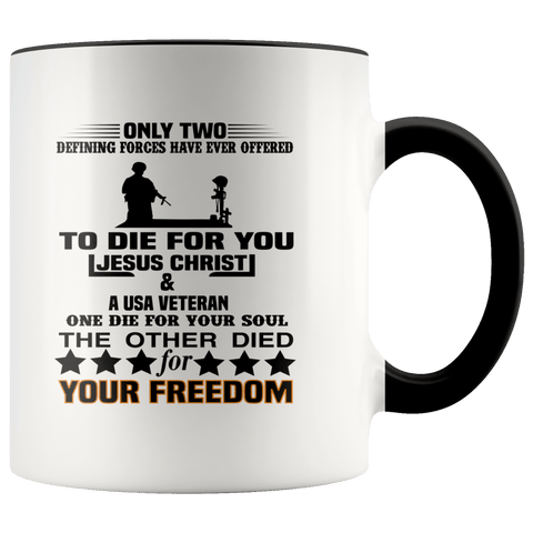 To Die For You Veteran Mugs #2 (7 Colors) - The Shoppers Outlet