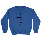 Faith Cross Crewneck Sweatshirts (6 Colors) - The Shoppers Outlet