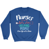 Nurses Helping People Crewneck Sweatshirts - The Shoppers Outlet