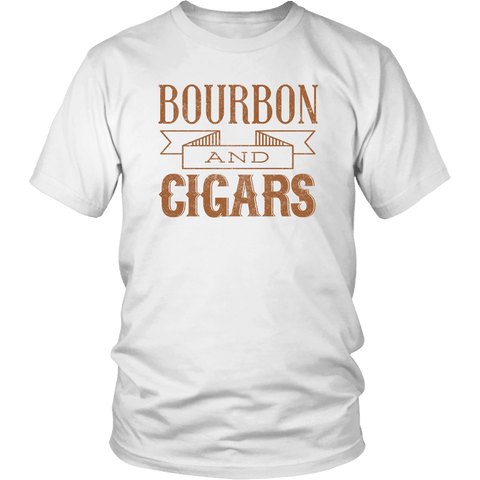 Bourbon and Cigars Tee Shirt (6 Colors) - The Shoppers Outlet