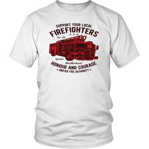 Support Your Local Firefighters Tee Shirts - The Shoppers Outlet