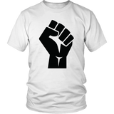 Black Power Fist Tee Shirts - The Shoppers Outlet