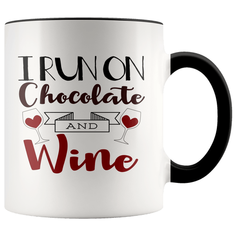 Fun - I Run On Accent Mugs - The Shoppers Outlet