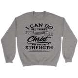I Can Do All Things Through Christ Crewneck Sweatshirts (6 Colors) - The Shoppers Outlet