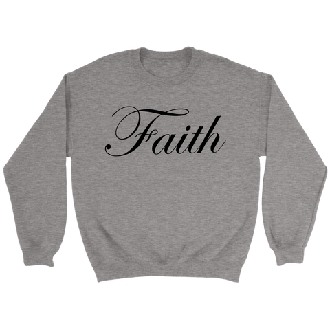 Faith Scripted Crewneck Sweatshirt - The Shoppers Outlet