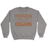 Bourbon and Cigars Crewneck Sweatshirts - The Shoppers Outlet