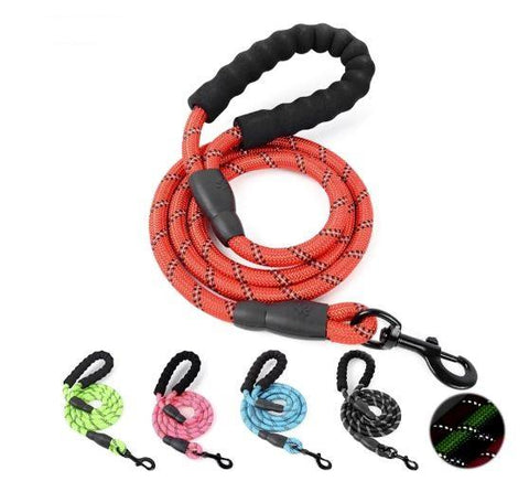 Nylon Rope Reflective Pet Dog Leash - The Shoppers Outlet