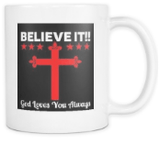 Faith - Believe IT Coffee Mugs - The Shoppers Outlet