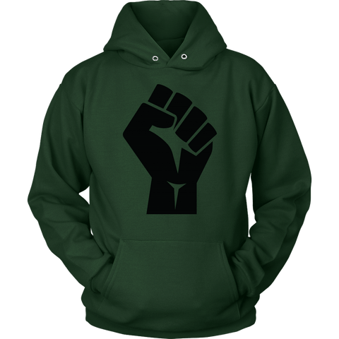 Black Power Fist Hoodie - The Shoppers Outlet