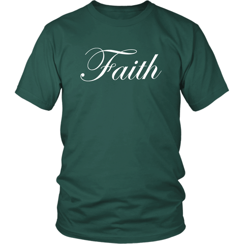 Faith Script Tee Shirts (8 Colors) - The Shoppers Outlet