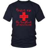 Nurses Are The Heartbeat Tee Shirts (11 Colors) - The Shoppers Outlet