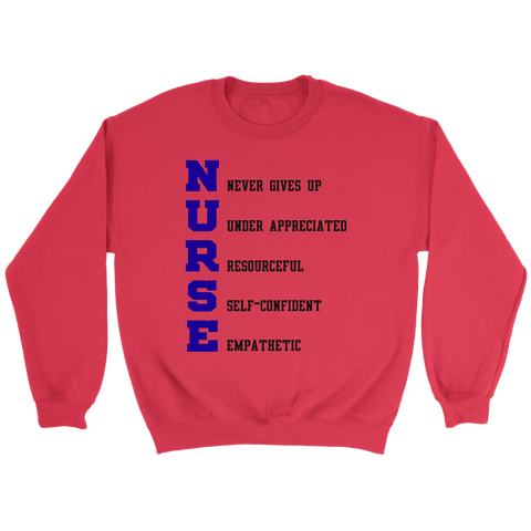 Nurse Crewneck Sweatshirts (5 Colors) - The Shoppers Outlet