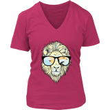 Hip Lion in Shades V-Neck Tee Shirts (8 Colors) - The Shoppers Outlet