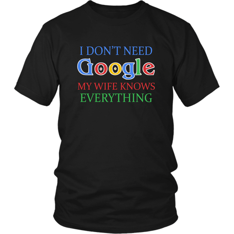 I Don't Need Google Tee Shirts (13 Colors) - The Shoppers Outlet