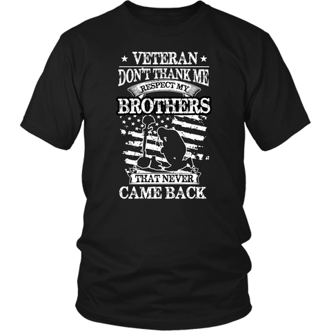 Don't Thank Me Veteran Tee Shirts - The Shoppers Outlet