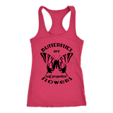 Butterflies are Self Propelled Flowers Racerback Tank Tops - The Shoppers Outlet