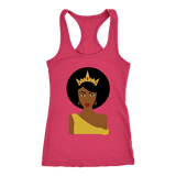 Afro Queen Racerback Tank Tops - The Shoppers Outlet