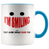 Fun - I'm Smiling Accent Mugs (8 Colors) - The Shoppers Outlet