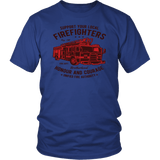 Support Your Local Firefighters Tee Shirts (7 Colors) - The Shoppers Outlet