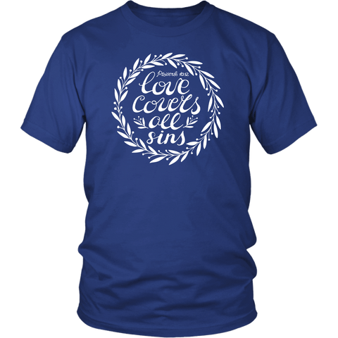 Proverbs 10:12 Tee Shirts - The Shoppers Outlet
