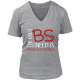 The Only BS I Need V-Neck Tee Shirts (5 Colors) - The Shoppers Outlet