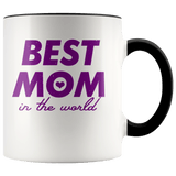 Mother - Best Mom Accent Mugs (8 Colors) - The Shoppers Outlet