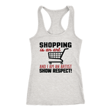 Shopping Is An Art Racerback Tank Tops (8 Colors) - The Shoppers Outlet