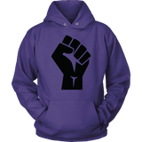 Black Power Fist Hoodies - The Shoppers Outlet