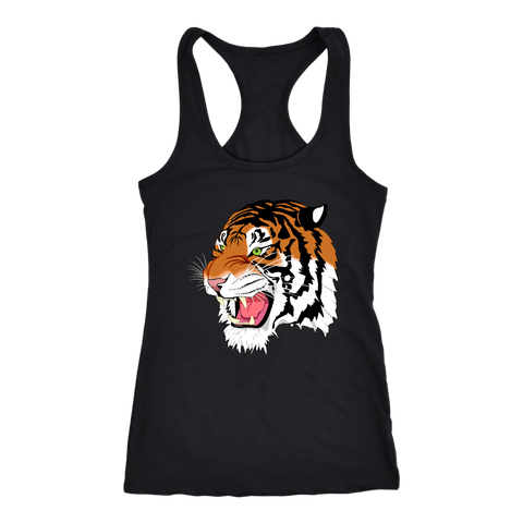 Sumatran Tiger Racerback Tank Tops - The Shoppers Outlet