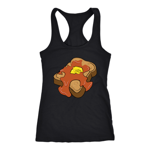 Love Me Some French Toast Racerback Tank Top (13 Colors) - The Shoppers Outlet