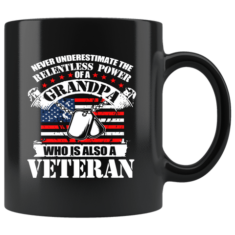 Power Of A Grandpa Veteran Mug - The Shoppers Outlet