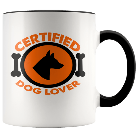 Certified Dog Lover Mugs (7 Colors) - The Shoppers Outlet