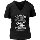 Philippians 4:13 V-Neck Tee Shirts- White Font (7 Colors) - The Shoppers Outlet