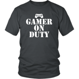Gamer on Duty Tee Shirts- White Font - The Shoppers Outlet