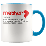 Mother - Noun Accent Mugs (8 Colors) - The Shoppers Outlet