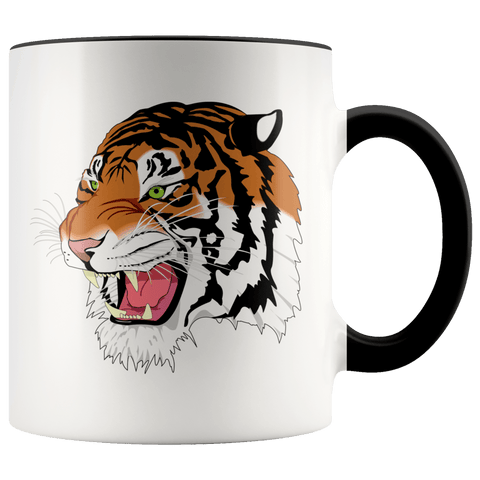 Animals - Sumatran Tiger Accent Mugs (8 Colors) - The Shoppers Outlet