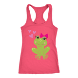 Cute Frog Racerback Tank Tops - The Shoppers Outlet