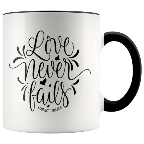 Faith - 1 Corinthians 13:8 Mugs (7 Colors) - The Shoppers Outlet