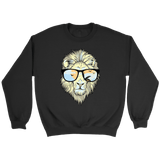 Hip Lion in Shades Crewneck Sweatshirts (7 Colors) - The Shoppers Outlet