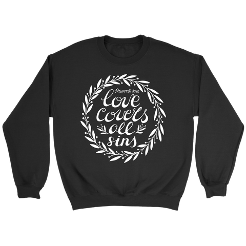 Love Covers All Crewneck Sweatshirts (7 Colors) - The Shoppers Outlet