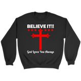 Believe It Crewneck Sweatshirts (7 Colors) - The Shoppers Outlet