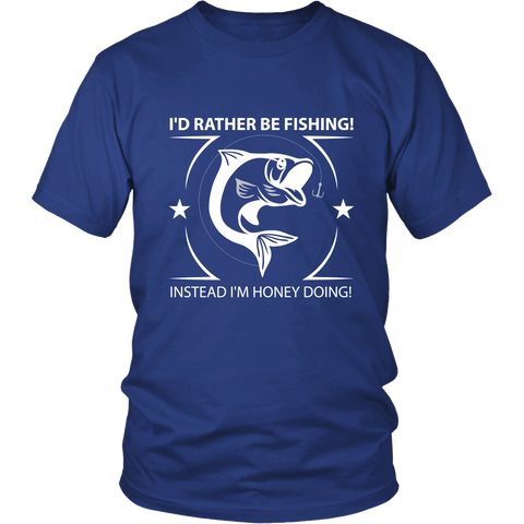I'd Rather Be Fishing Tee Shirts - The Shoppers Outlet